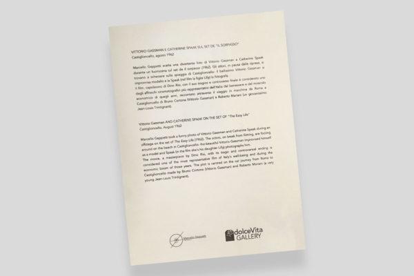 Certificato Gassman Spaak