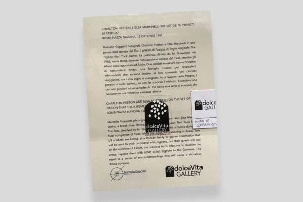 Certificato Heston Martinelli