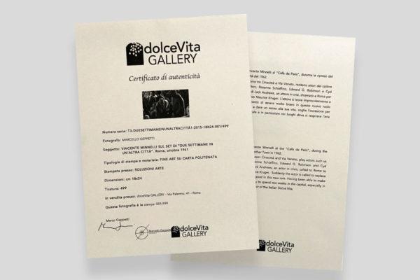 Certificato Minnelli