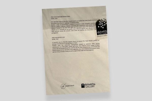 Certificato Pasolini