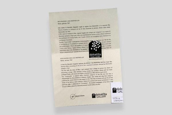 Certificato Pavone Wertmuller