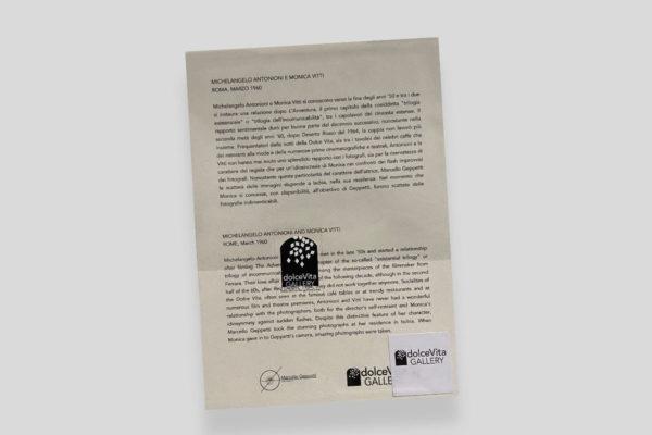Certificato Vitti Antonioni