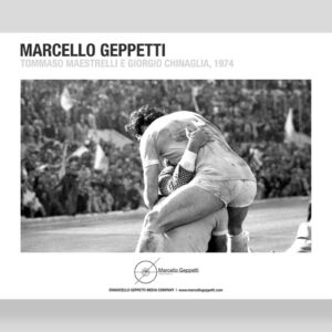 Poster Chinaglia e Maestrelli Lazio, foto Marcello Geppetti