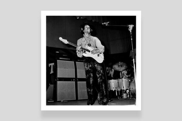 Jimi Hendrix a Roma fotografia di Marcello Geppetti