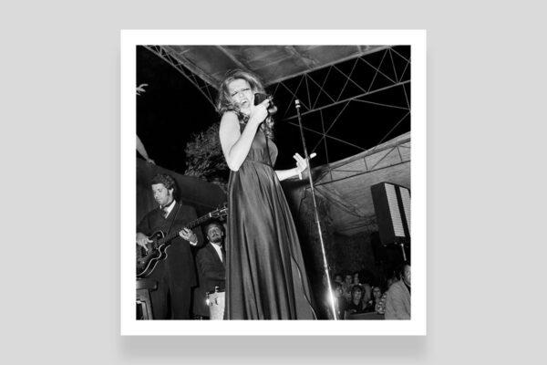 Mina in concerto foto di Marcello Geppetti