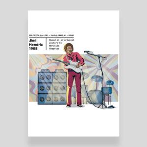 Poster Jimi Hendrix Marcello Geppetti