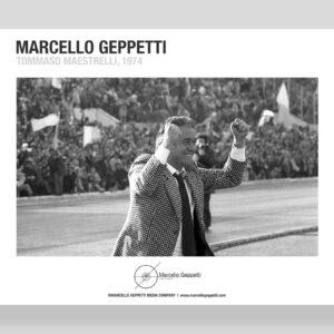 Poster Tommaso Maestrelli 1974 foto Marcello Geppetti