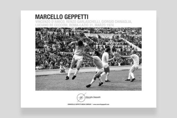 Poster Roma-Lazio, marzo 1974. Foto di Marcello Geppetti