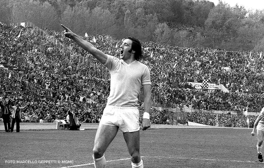 Giorgio Chinaglia dopo goal foto Marcello Geppetti